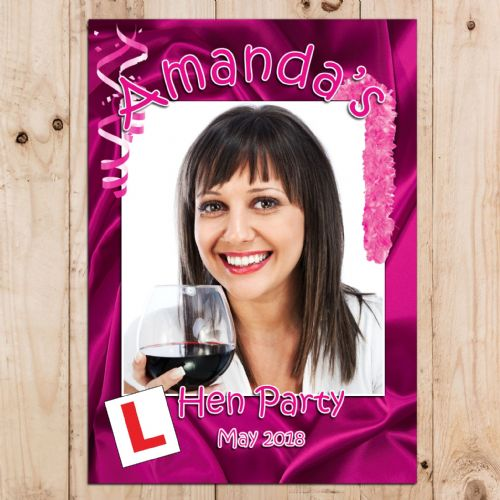 Personalised Hen Party PHOTO Poster Banner N22